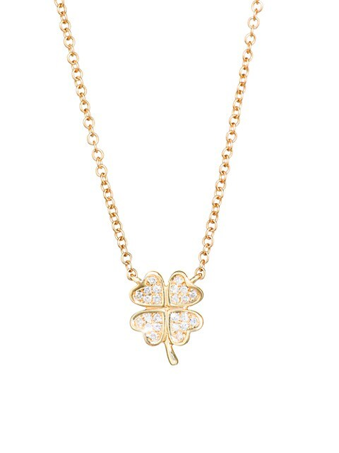 Diamond Mini Clover Pendant Necklace