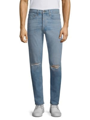 Fit 1 Distressed Slim-Fit Jeans, Pylle Hole