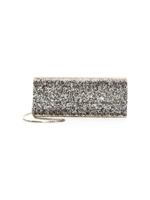 Sweetie Sparkle Acrylic Convertible Clutch in Metallic