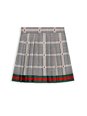 7511202a Gucci - Little Girl's & Girl's Prices Gales Pleated Plaid Ladybug Skirt -  saks.com