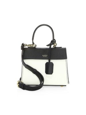 The Mini Elizabeth Leather Satchel by Mateo New York