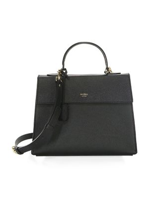 The Elizabeth Leather Satchel by Mateo New York