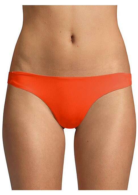 Image of From The Sensual Solids Collection. Textured bikini bottom with side hardware. Stretch bottom. Lined. Nylon/spandex. Hand wash. Made in USA. Please note: Bikini top sold separately