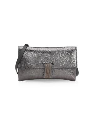 Broken Glass-Effect Wallet On A Chain in Graphite