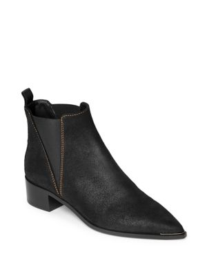 Jensen Waxed Suede Booties by Acne Studios