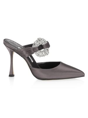 Maidugur 105 Satin Mules by Manolo Blahnik