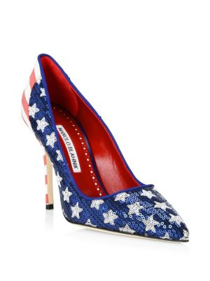 Duke Americana Sequined Pump, Multi