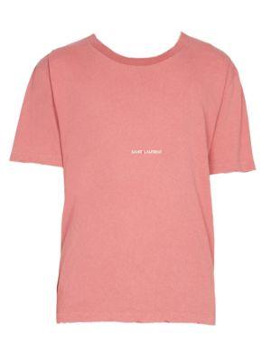 Rive Cotton Logo Tee by Saint Laurent