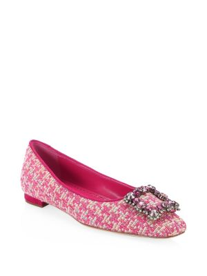 Caza Tweed Flats by Manolo Blahnik