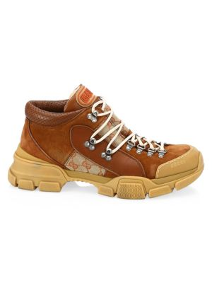 Leather & Original Gg Trekking Boot, Brown