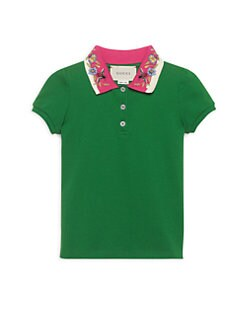 caeedf0c5b5 Gucci. Little Girl s   Girl s Embroidered Polo Top
