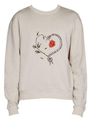 Heart Graphic Sweatshirt by Saint Laurent