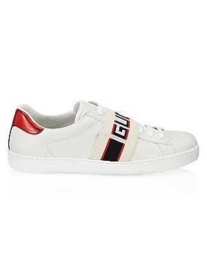 4670d6dac75 Gucci - New Ace Gucci Stripe Leather Sneaker - saks.com