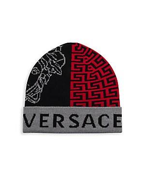Versace - Graphic Logo Beanie - saks.com 11b25ba720f