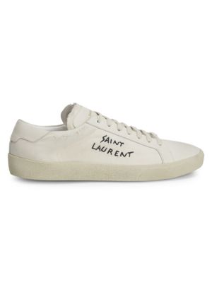 Leather Low Top Sneakers by Saint Laurent