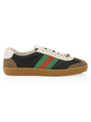 Jbg Webbing-Trimmed Leather And Suede Sneakers, Ardesia/ Black