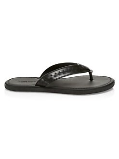 0b22d3f351 Bottega Veneta. Storm Leather Flip Flops