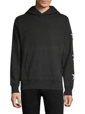 OVADIA & SONS Men'S Star Hoodie Sweatshirt in Black/White
