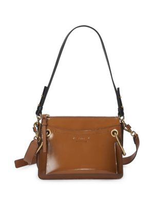 Mini Roy Leather Crossbody Bag by Chloé