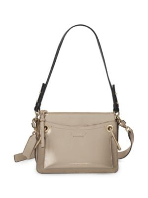 Roy Mini Leather/Suede Double-Zip Shoulder Bag in 23W Mottygr