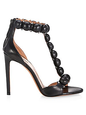 02e72fee46ff Alaïa - Bombe T-Strap Leather Sandals - saks.com