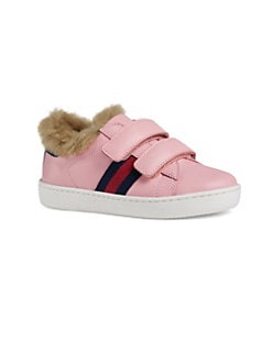 189da67c00 QUICK VIEW. Gucci. Kid's Leather and Faux Fur Sneakers