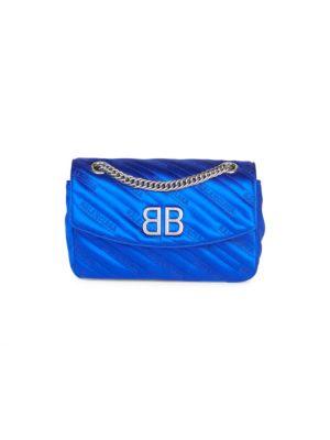 Bb Logo Satin Crossbody Bag by Balenciaga