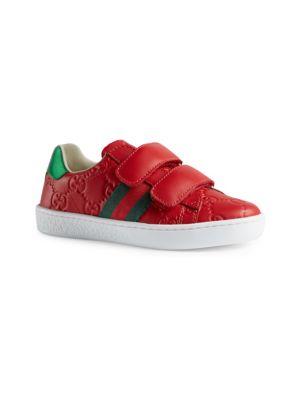 6e2d50df334da Gucci - Baby s GG Canvas   Leather Sneakers - saks.com