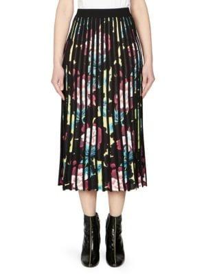 Kenzo Midi skirts Pleated Floral Midi Skirt