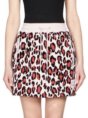 Kenzo Cottons Leopard Print Mini Skirt