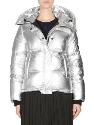 Silver Waterproof Fabric Down Jacket