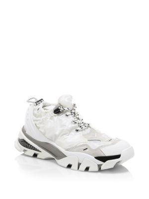 Caramene 10 Nylon Drawstring Sneakers, White