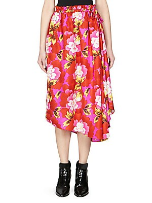 c89606d42f9e7 Rixo - Leandra Floral Silk Midi Skirt - saks.com