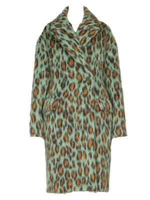 Leopard Print Mohair Coat by Kenzo