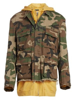 Abu Camouflage Cotton Field Jacket, Camo Yellow Combo