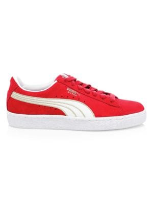 Women'S Basket Heart De Casual Sneakers From Finish Line in Red