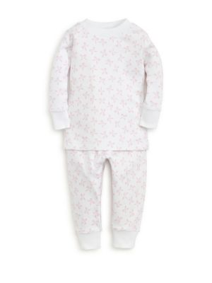 Baby Girls  Little Girls TwoPiece Bunches of Bows Print Cotton Pajama Set
