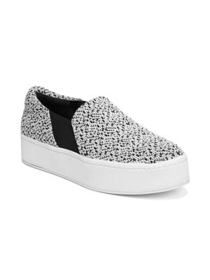 Women'S Warren Knit Platform Sneakers in White/Black