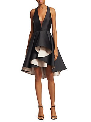 a56731976b6f Halston Heritage - Colorblock Fit-And-Flare Cocktail Dress - saks.com