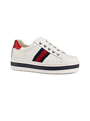 kids-new-ace-platform-leather-sneakers by gucci