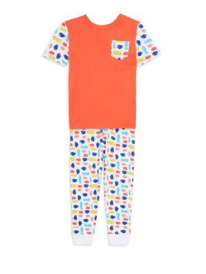 Baby Girls Little Girls  Girls Neapolitan Archipelago Pac Fish TwoPieve Cotton Pajama Set