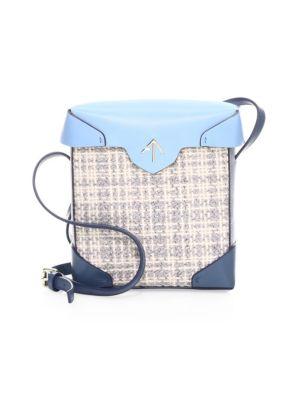 Mini Pristine Leather Box Bag by Manu Atelier