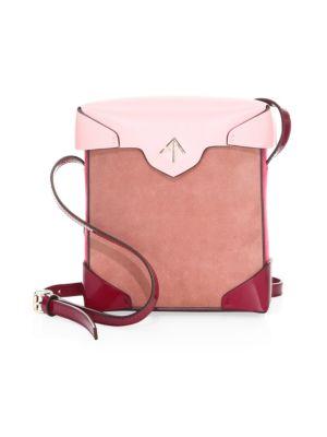 Manu Atelier Leathers Mini Pristine Suede & Leather Box Bag