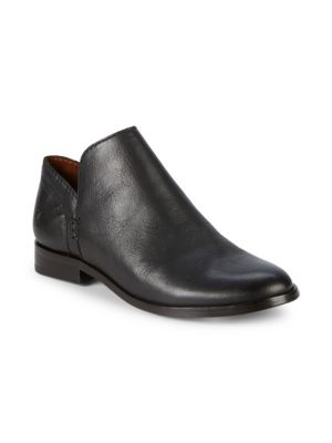 FRYE Women'S Elyssa Leather Booties in Black Leather