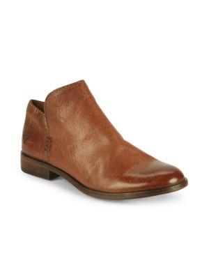 Women'S Elyssa Leather Booties, Cognac