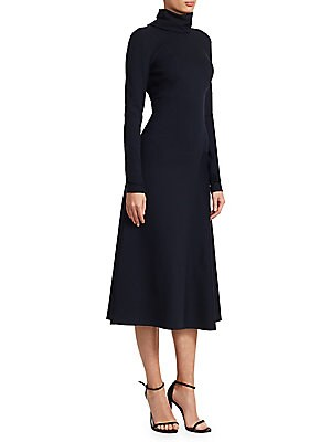 69f856c4b9 Victoria Beckham - High-Neck Jersey Midi Dress