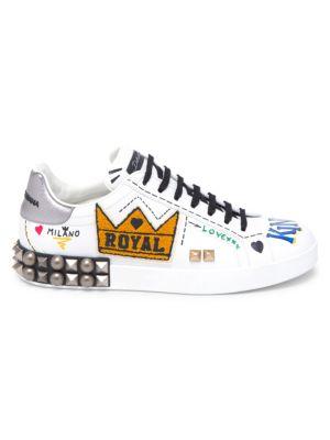 Dolce E Gabbana Men'S Cs1548Ah1058B441 White Leather Sneakers from DOLCE & GABBANA