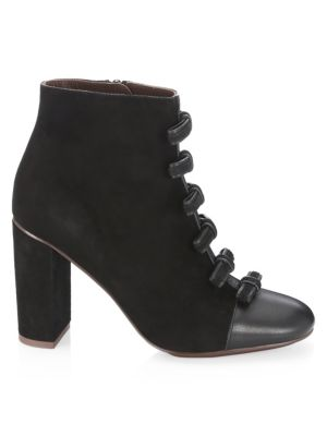 Gisel Bow Booties in Nero