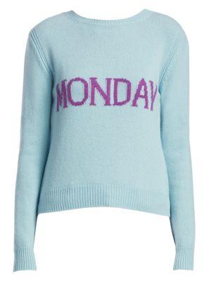 Rainbow Week Capsule Days Of The Week Monday Sweater, Light Blue