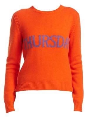 Rainbow Week Capsule Days Of The Week Thursday Sweater in Orange